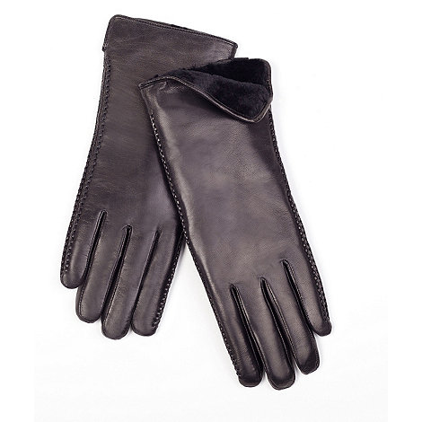 Just Sheepskin - Black sheepskin lined leather gloves