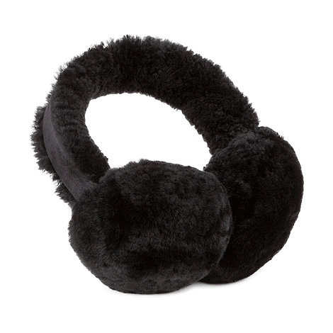 Just Sheepskin - Black sheepskin earmuffs