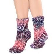 Berry chunky space dye socks