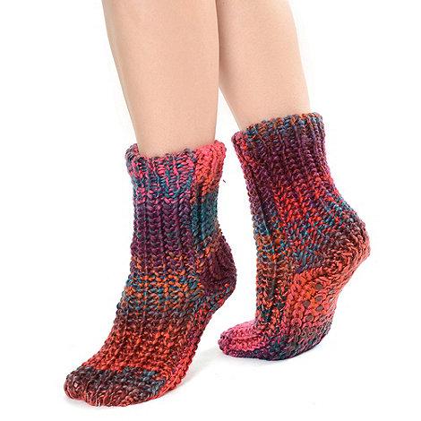 Totes - Pastel chunky space dye socks