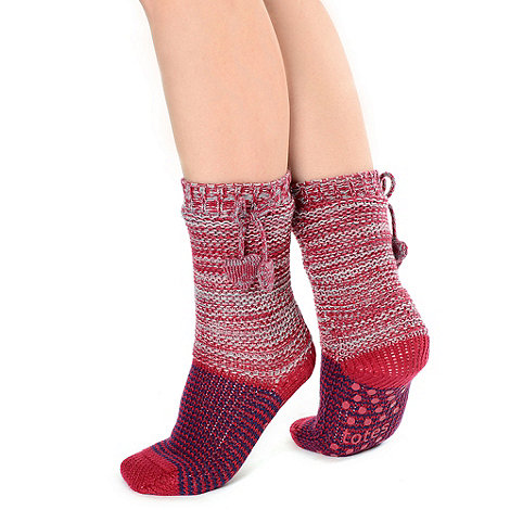 Totes - Berry luxury space dye socks