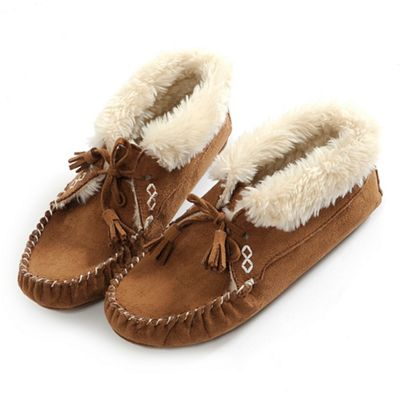 Tan bootie moccasin