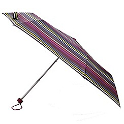 Totes - Charcoal multistripe supermini umbrella