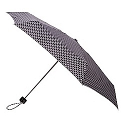 Totes - Small black and white dot supermini umbrella
