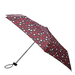Totes - Charcoal painted dot miniflat umbrella