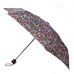Totes - Painted floral auto open/close mini round umbrella