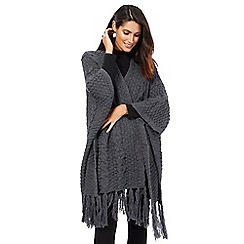 The Collection - Dark grey cable knit wrap
