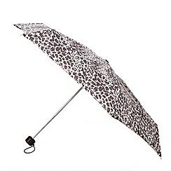 Totes - Mocha leopard print mini round umbrella