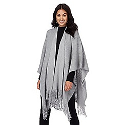 The Collection - Light grey sequinned wrap