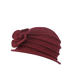 The Collection - Dark red wool cloche hat