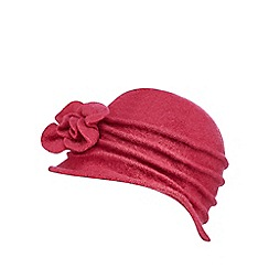 The Collection - Pink wool cloche hat