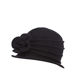 The Collection - Black wool cloche hat