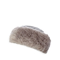 The Collection - Grey wool rich Cossack hat