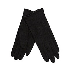 The Collection - Black touch screen wool rich gloves