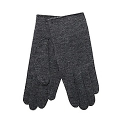 The Collection - Grey touch screen wool rich gloves