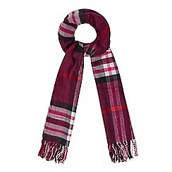 The Collection - Dark pink checked scarf