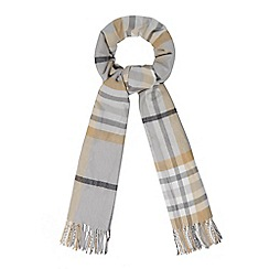The Collection - Light grey checked scarf