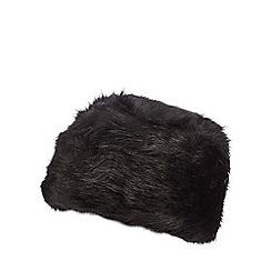 The Collection - Black faux fur Cossack hat