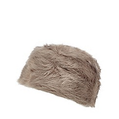 The Collection - Grey faux fur Cossack hat