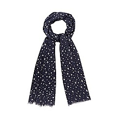 The Collection - Navy star scarf in a gift box