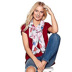 Mantaray - Light pink oil rose print scarf
