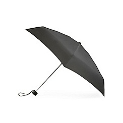 Totes - Black mini 5 section compact round umbrella