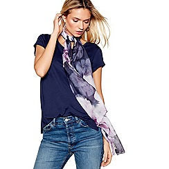 Mantaray - Navy giant bloom print scarf