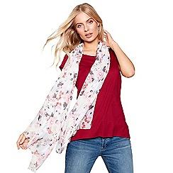 Mantaray - Multi-coloured watercolour bloom print scarf