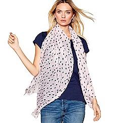 Mantaray - Pink geometric heart print scarf