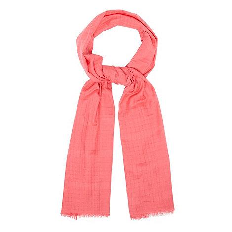 Principles by Ben de Lisi - Designer bright pink fine ladder scarf