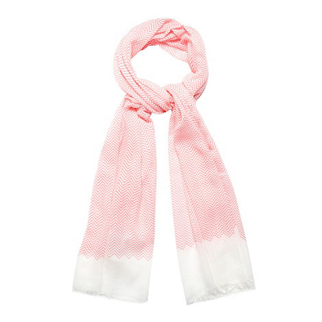 Principles by Ben de Lisi - Designer pink zig zag border scarf