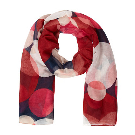Principles by Ben de Lisi - Designer dark red retro circles scarf