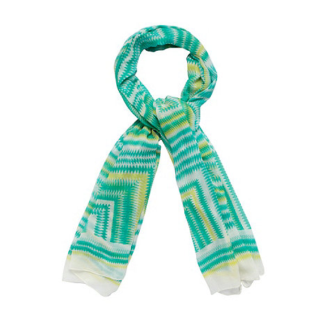 Principles by Ben de Lisi - Designer green illusion patterned scarf