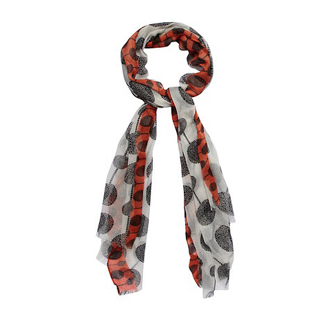 Betty Jackson.Black - Designer white tree spotted scarf