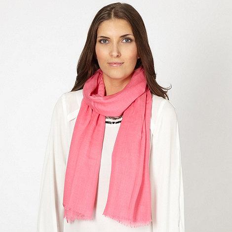 J by Jasper Conran - Designer pale pink woven cashmere blend scarf