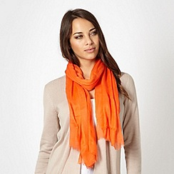 J by Jasper Conran - Designer orange cashmere blend scarf