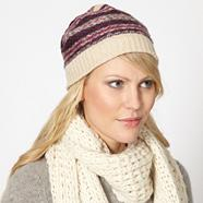Designer cream fairisle hat