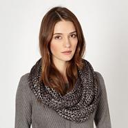 Designer black metallic knitted snood