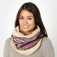 Designer cream fairisle snood