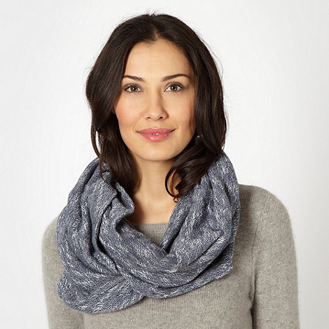 Mantaray - Dark blue woven snood