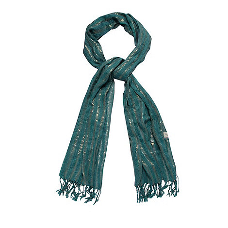 Mantaray - Green metallic striped scarf