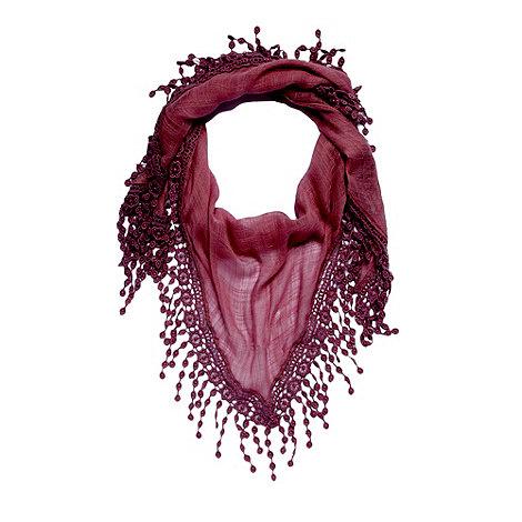 Mantaray - Lilac crochet trim scarf