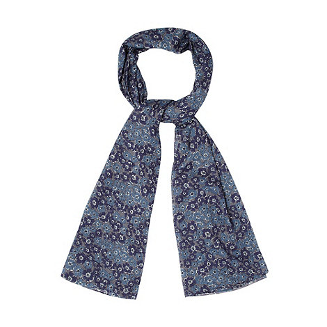 Mantaray - Blue geranium flower scarf