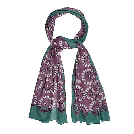 Mantaray - Lilac woven circles scarf