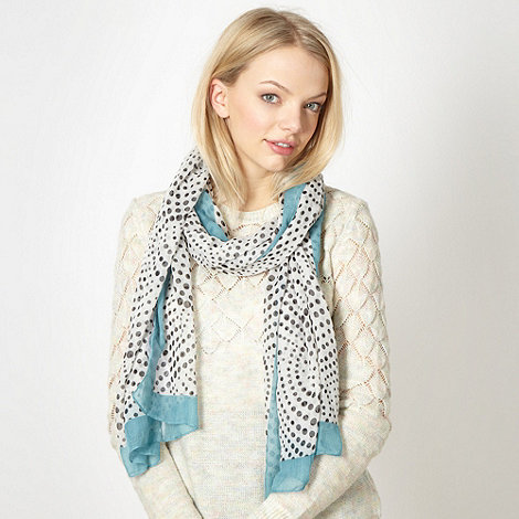 Red Herring - White spotted fashion scarf