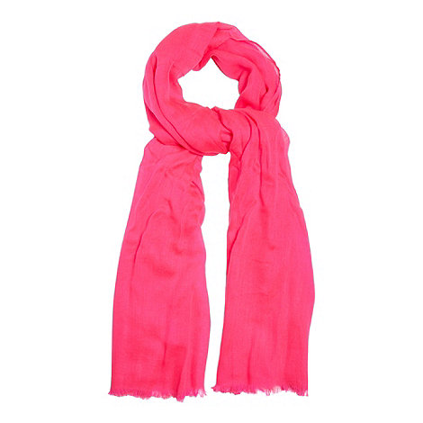 Red Herring - Bright pink solid lofty scarf