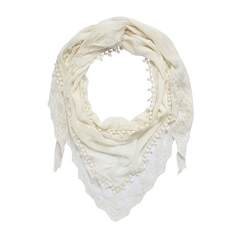 Red Herring - Cream lace edge scarf