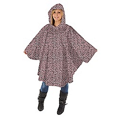 Totes - Pink leopard print poncho