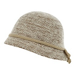 The Collection - Natural knitted cloche hat