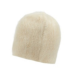 The Collection - Cream fluffy beanie